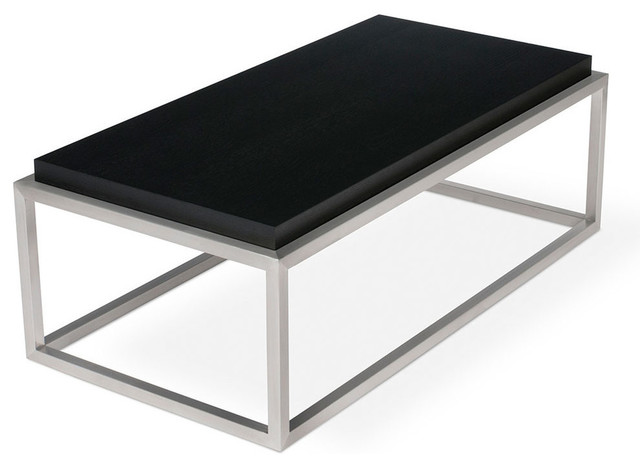 Gus Modern Drake Rectangular Coffee Table Black Oak Contemporary Coffee Tables By Design