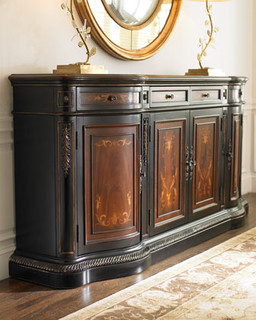 Golden Scrolls Credenza - Traditional - Filing Cabinets - by Horchow