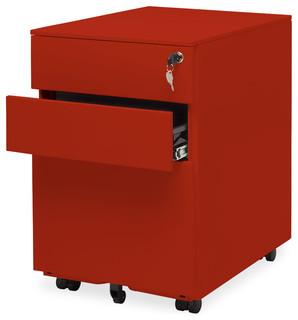 Blu Dot Filing Cabinet No. 1, Red - Modern - Filing Cabinets - by Blu Dot