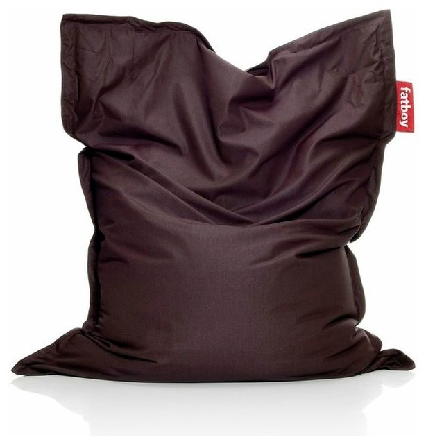 Bean Bag Aubergine Contemporary Bean Bag Chairs By
