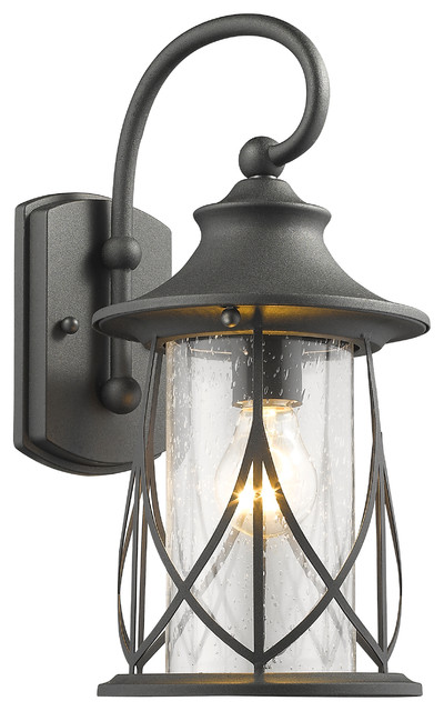 Wall Lamps For Outside : Marhaus 1-Light Black Outdoor Wall Sconce 15
