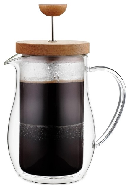 Double Walled Glass French Press Contemporary French