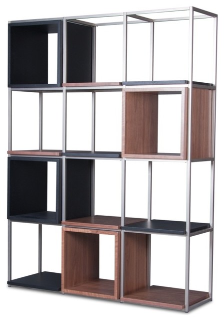 regalset grid iii schwarze eiche walnuss moderno. Black Bedroom Furniture Sets. Home Design Ideas