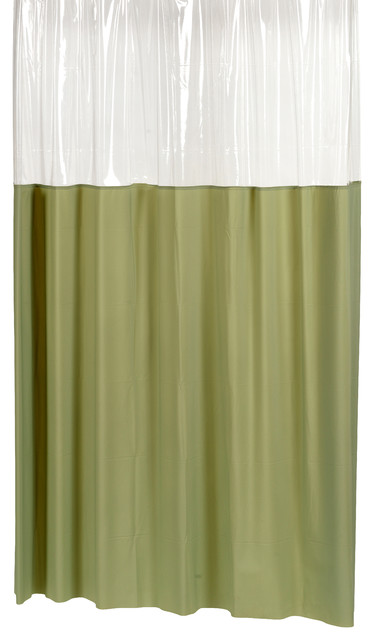 Window Vinyl Shower Curtain In Sage Contemporary Shower Curtains By Carnation Home Fashions