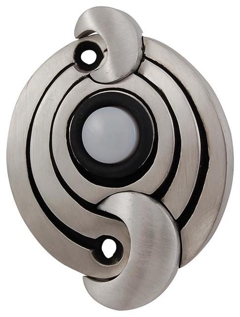 Ariosto Doorbell Antique Nickel Modern Doorbells And Chimes