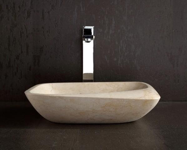 Modern Bathroom Basins : Maya - Galala Limestone Basin Sink - Modern - Bathroom Basins ...