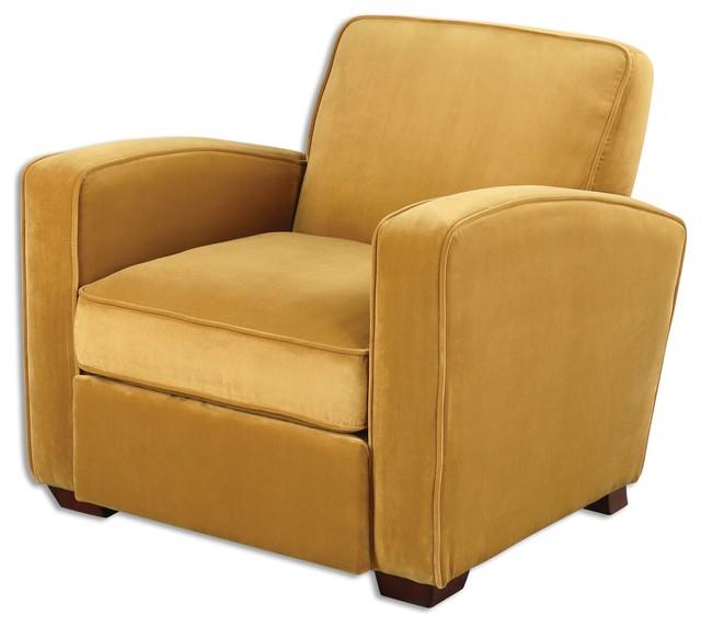 Uttermost Somac Armchair Gold Midcentury Armchairs