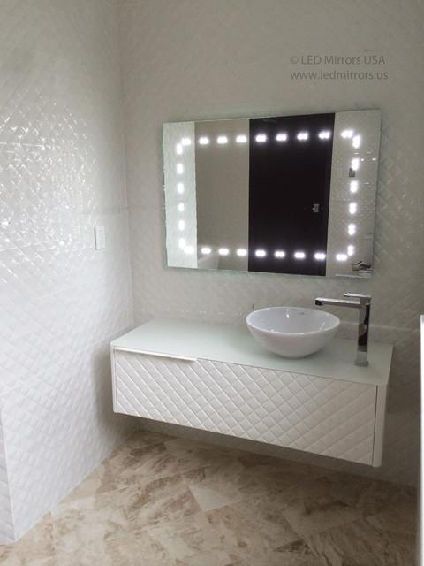 Luxury  Florida Beach Condo Gets A Transitional Remodel Beachstylebathroom
