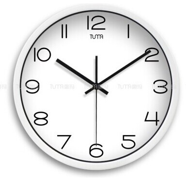 12 modern style wall clock in stainless steel tuma j307w modern wall clocks other. Black Bedroom Furniture Sets. Home Design Ideas