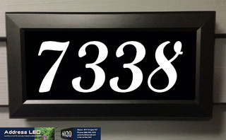 Address Led Illuminated House Numbers Traditional
