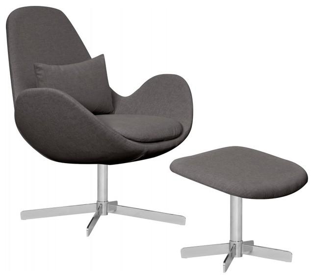 loungesessel houston anthrazit ii niedrig mit hocker. Black Bedroom Furniture Sets. Home Design Ideas