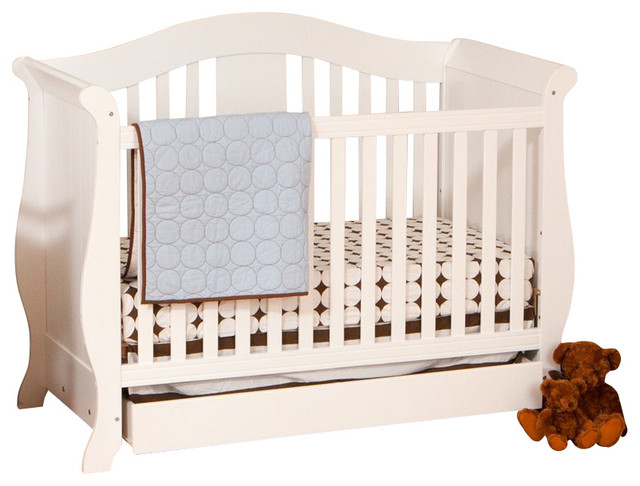 Stork Craft Vittoria 3 In 1 Fixed Side Convertible Crib In