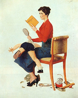 Mother Spanking Her Child By Norman Rockwell 15 X20