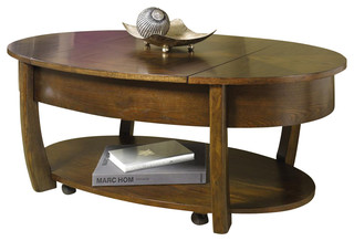Concierge Oval Lift Top Cocktail Table Contemporary
