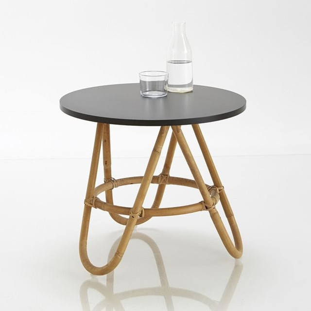 Chevet ou table d 39 appoint en rotin kok contemporain table de chevet - Table de nuit la redoute ...