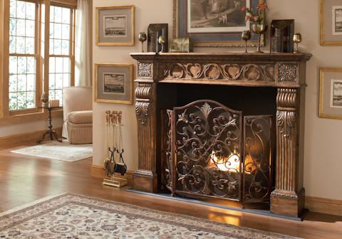 Rockefeller 3 Panel Fireplace Screen
