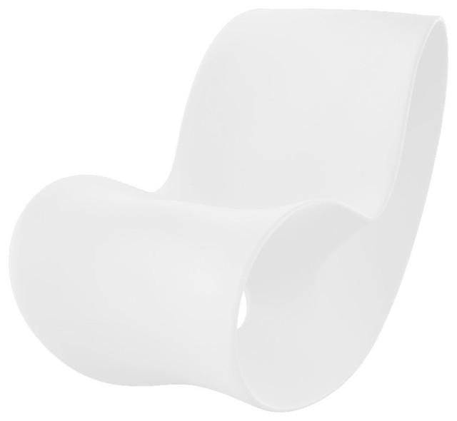 voido rocking chair white by magis contemporain rocking chair de jardin par made in design. Black Bedroom Furniture Sets. Home Design Ideas