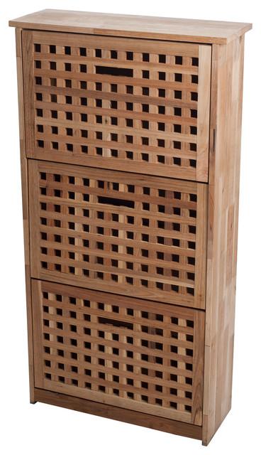Lavish 3-Drawer Shoe Cabinet - Traditional - Shoe Storage - by Trademark Global