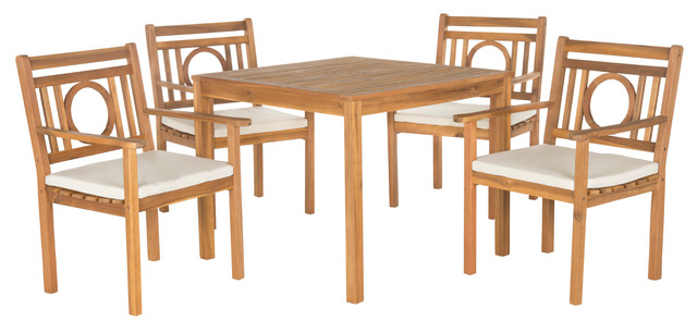 Beach Style Dining Sets: Safavieh Montclair 5-Piece Outdoor Dining Set