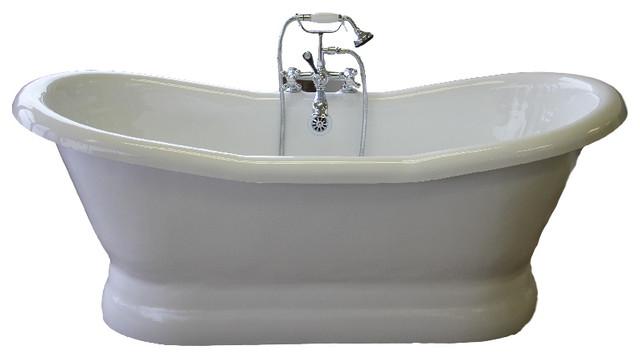 Empress 68 double slipper pedestal bone tub bathtubs for A table restoria