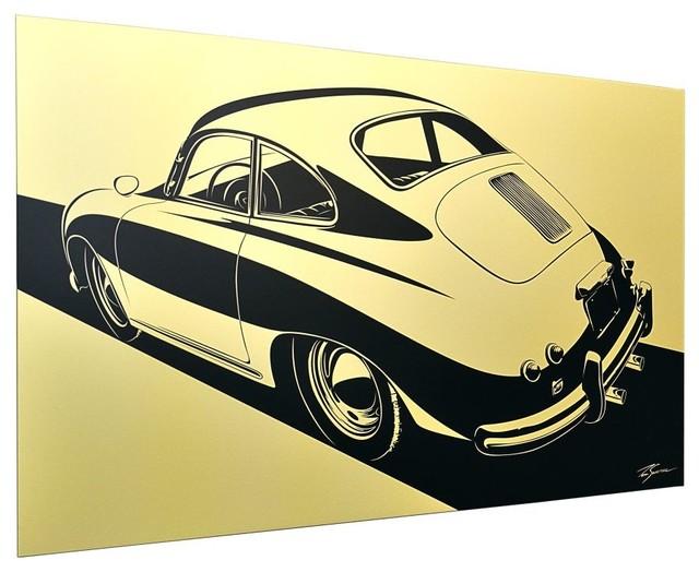 Collect Car Artwork Porsche 356 Stylization