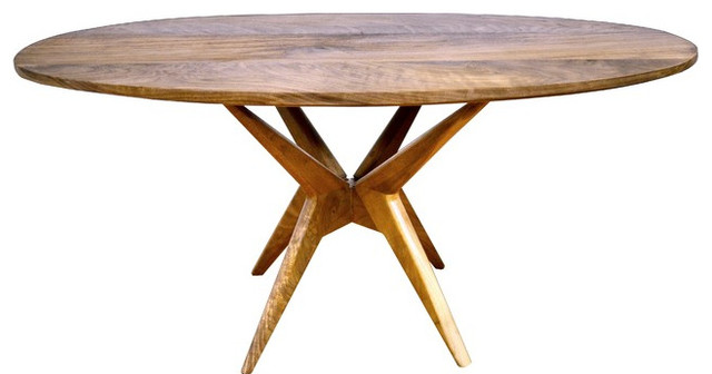 Walnut Oval Dining Table Midcentury Dining Tables By Richard