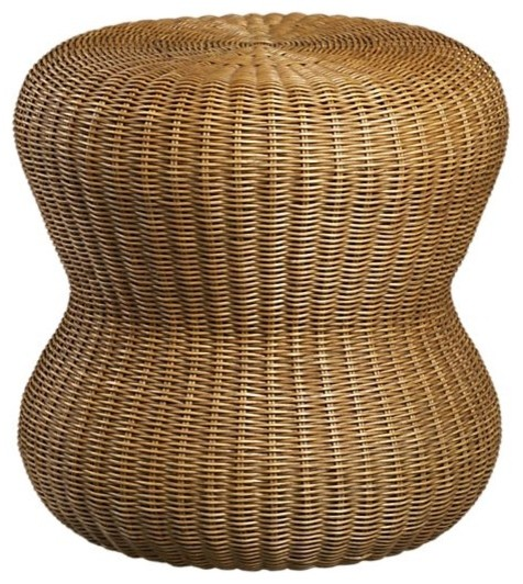 Wicker ottoman crate barrel eclectic footstools and for Crate and barrel pouf