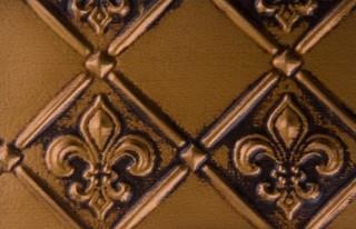 wc 80 faux tin backsplash roll fleur de lis 3 pattern