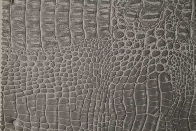 Alligator 3266 Whitsilver Faux Leather For Upholstery And