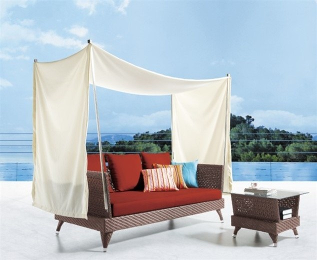 Roswell Canopy Patio Sofa Set Modern Outdoor Lounge