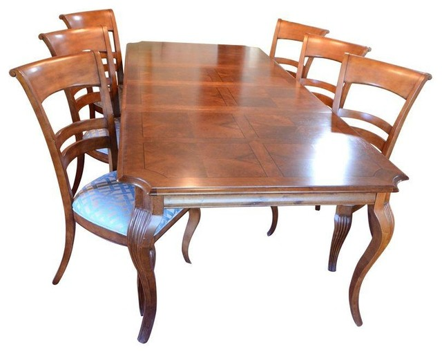 Stanley Provincia Dining Set Table 6 Chairs Modern