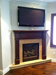Custom Mantel Amp Marble Surround Traditional Indoor