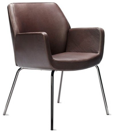 Bindu side chair low back modern dining chairs by for Modern low back dining chairs