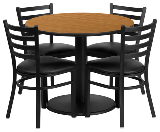 Flash Furniture 36 Inch Round Laminate Table Set With 4 Chairs Dining Sets By Beyond Stores