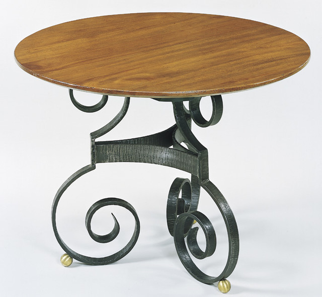 The no 660 french scroll table dining tables for Table th no scroll