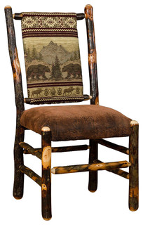 Rustic Hickory Dining Chairs Set Of 2 Bear Mountain