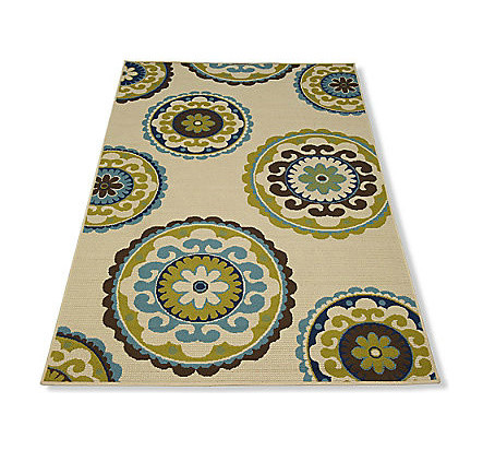 Cayman Outdoor Suzani Rug Contemporary Outdoor Rugs