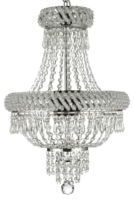 Flush Mount French Empire Crystal Chandelier Lighting Silver