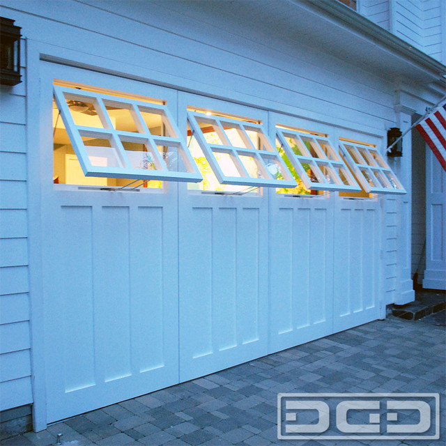 Hinged Carriage Doors With Functional Awning Style Windows - Traditional - Shed - Los Angeles ...