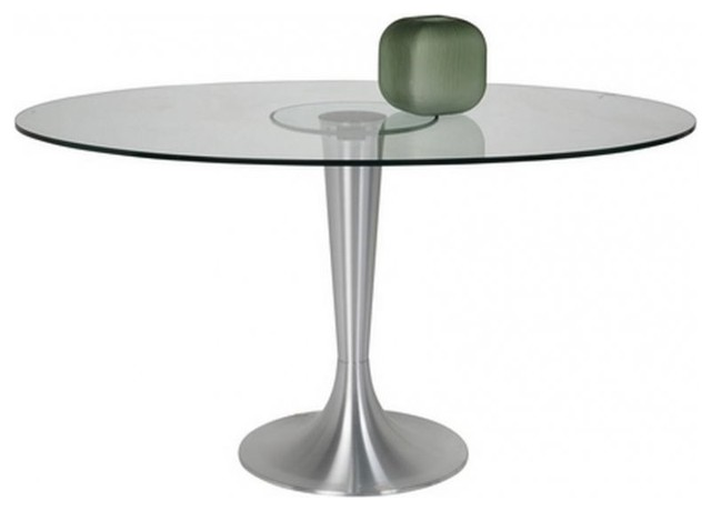 Table ovale possibilita pied m tal bross contemporary - Pied metal table ...