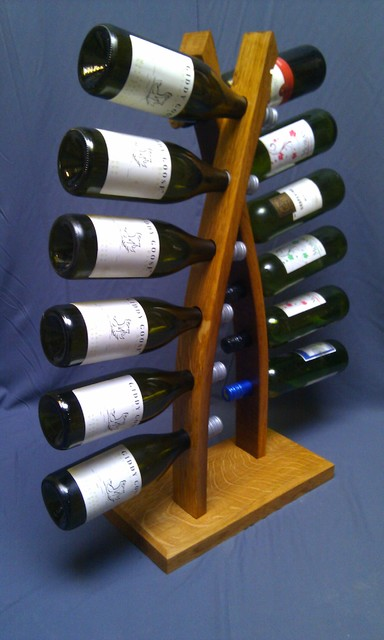 double stave wine rack ForArts And Crafts Wine Rack