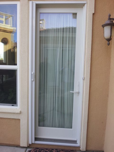 Mirage retractable screen door modern screen doors for Retractable screen door