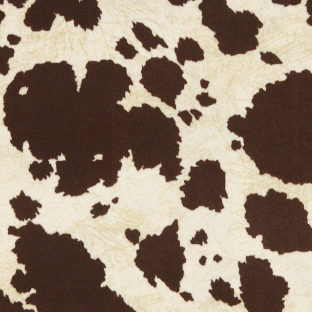 Brown Cow Animal Print Microfiber Stain Resistant