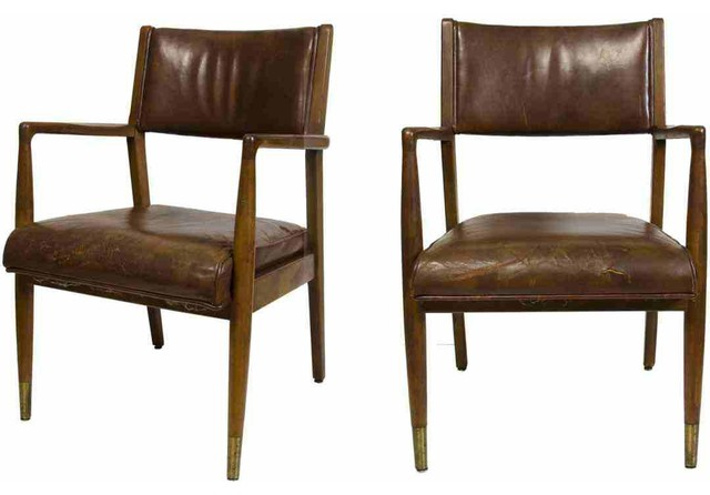 leather chairs eclectic dining chairs new york by omero