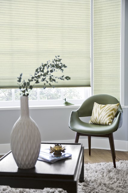 Smith and noble luxe linen honeycomb shades midcentury for Smith and noble shades