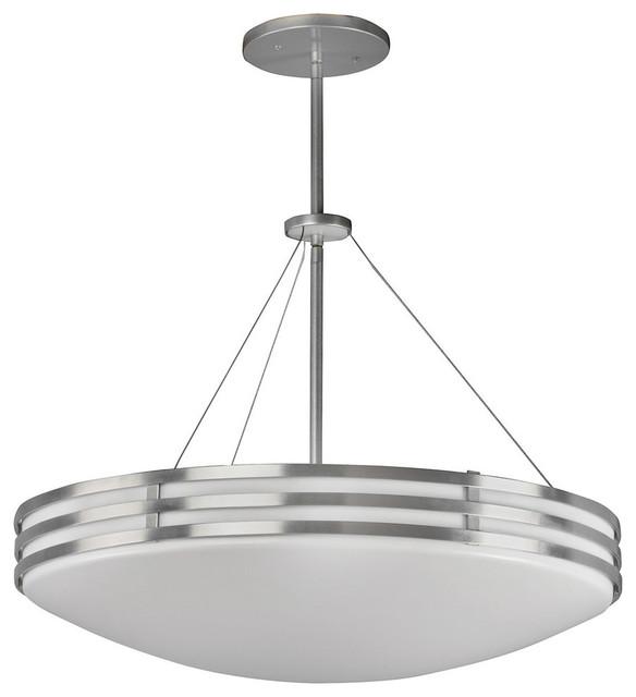 Bilbao 4 light pendant in satin aluminum retro - Lamparas bilbao ...