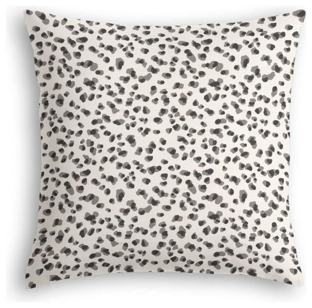 Animal Print Euro Pillow Shams : Black and White Leopard Print Euro Sham - Modern - Pillowcases And Shams - by Loom Decor
