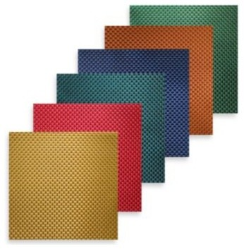 Bistro Square Vinyl Placemat Contemporary Kitchen And