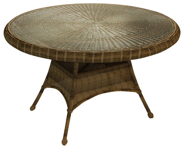Rockport 48 In Round Patio Dining Table Traditional Outdoor Dining Table
