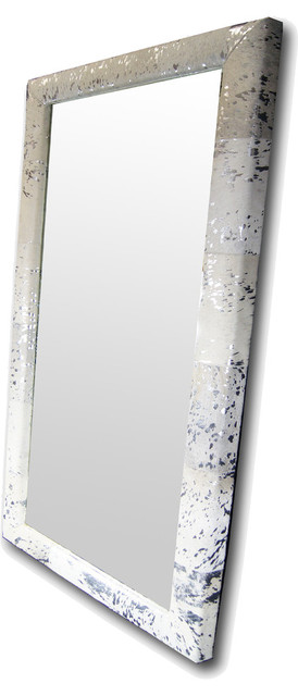luxury large floor mirror 3 x 6 ft silver white hair on